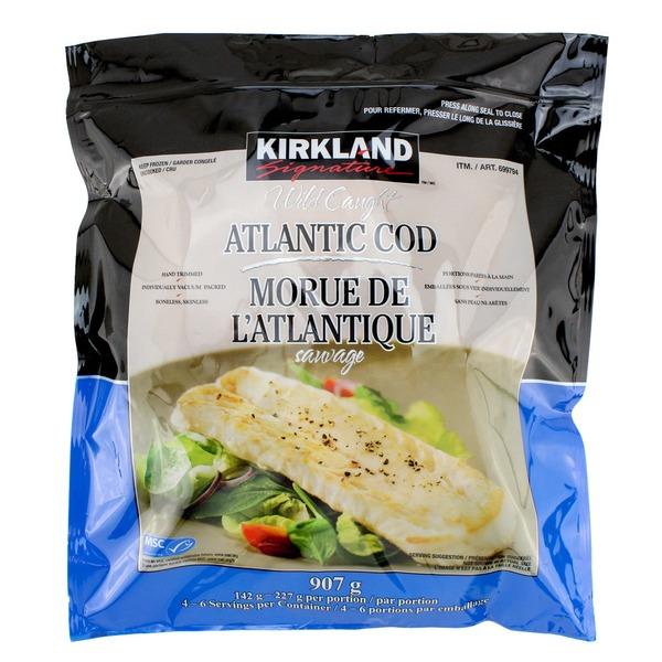 Kirkland Signature Wild Atlantic Cod, Individually Wrapped, 2 lb