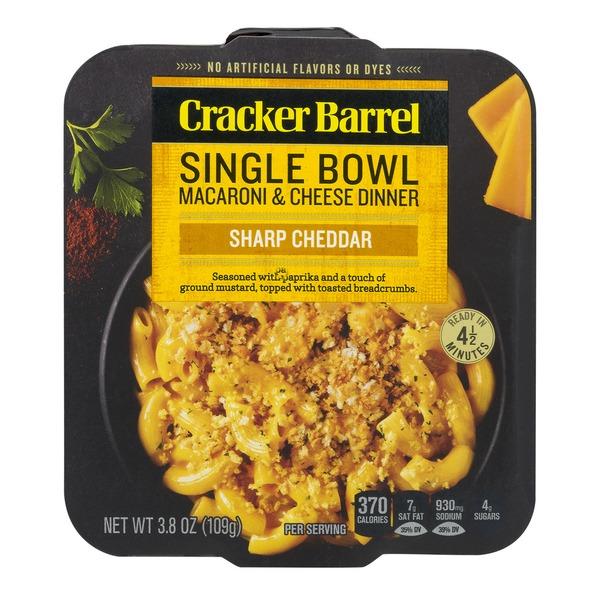 Cracker Barrel Single Bowl Sharp Cheddar Macaroni Cheese Dinner
