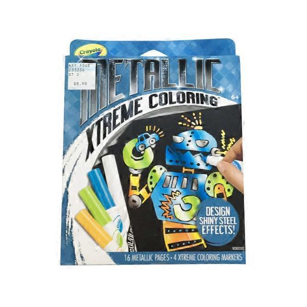 Crayola Coloring Pages & Markers Set, Metallic (1 ct) from ...