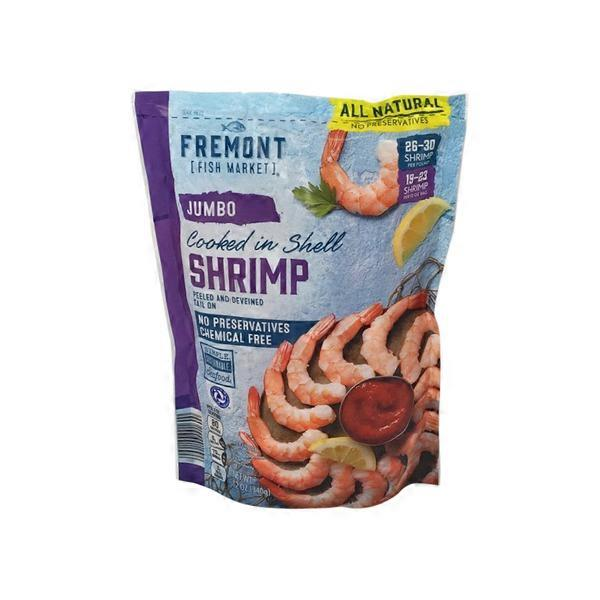 Fremont Fish Market Jumbo Cooked Shrimp (12 oz) from ALDI