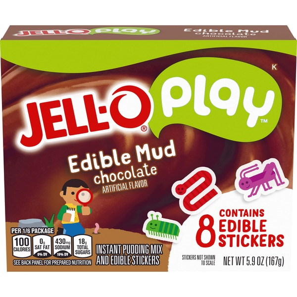 Jell O Play Edible Mud Chocolate Instant Pudding Mix 5 9 Oz Instacart