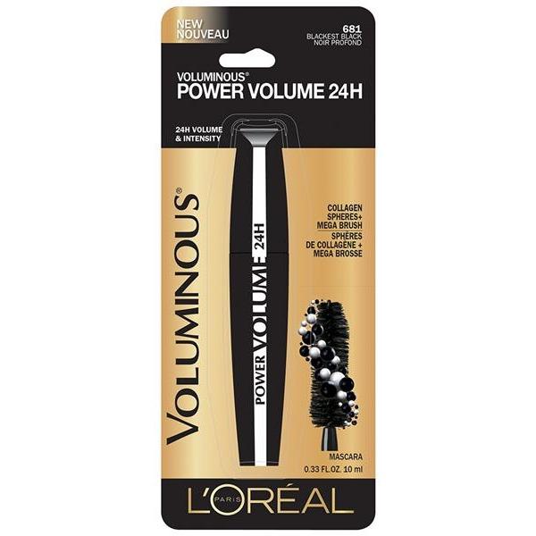 90c82782e90 L'Oreal Paris Voluminous Power Volume 24H Mascara - Blackest Black 681 .