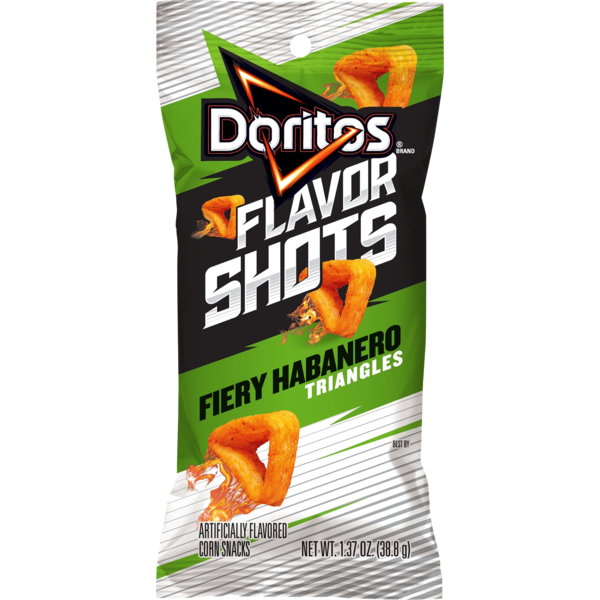 Doritos Flavor Shots Corn Snacks Fiery Habanero Triangles