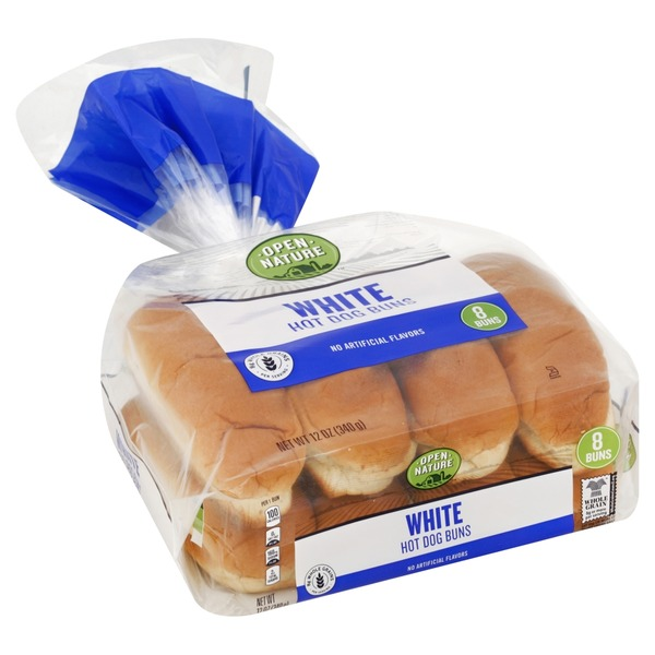 Open Nature Hot Dog Buns, White (8 each) from Safeway