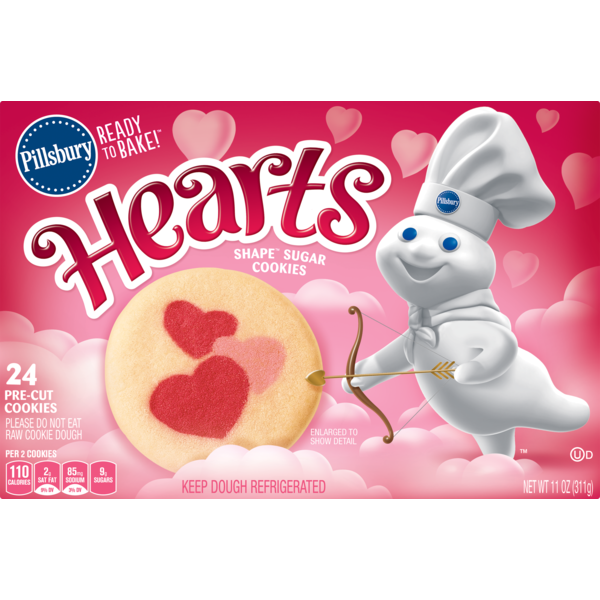 Pillsbury Ready To Bake Hearts Shape Cutout Sugar Cookies From Acme