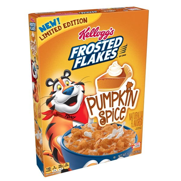 Kellogg's Frosted Flakes Breakfast Cereal Pumpkin Spice