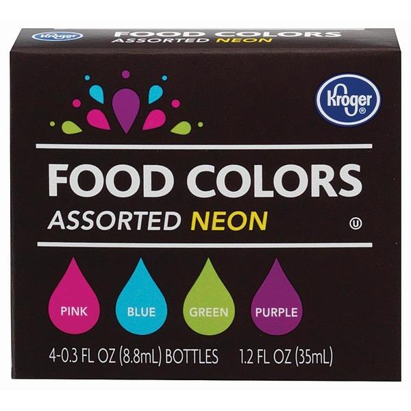 Kroger Assorted Neon Food Colors (0.3 fl oz) from Kroger - Instacart