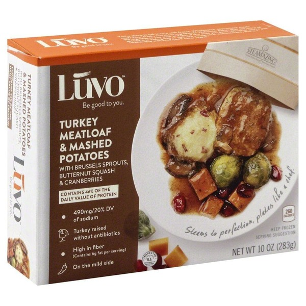 Luvo Turkey Meatloaf & Mashed Potatoes, Brussels Sprout