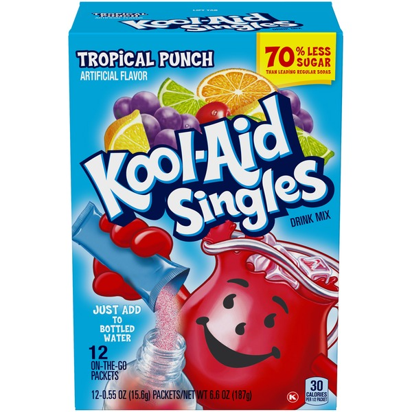 Kool Aid Singles Tropical Punch Drink Mix 055 Oz From Kroger