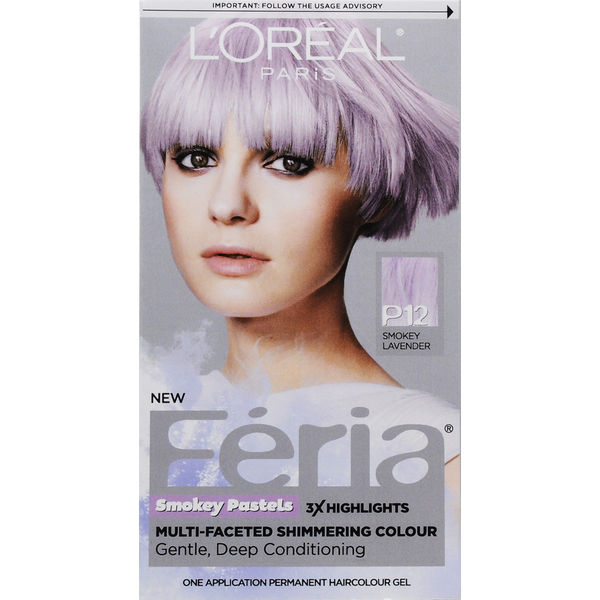 Feria Smokey Pastels P12 Smokey Lavender Hair Color Each From