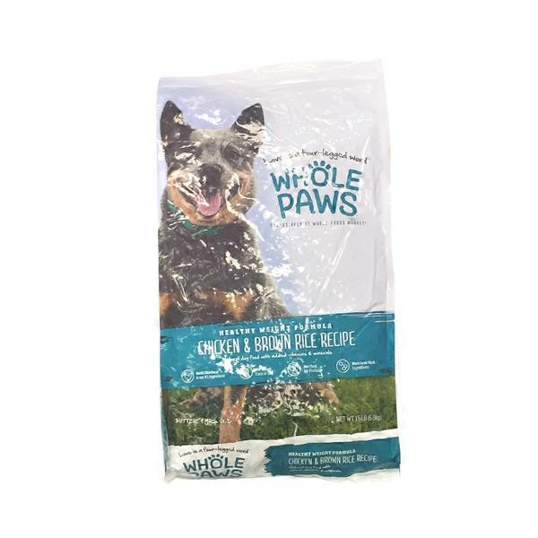 Whole paws chicken rice healthy weight dog food 15 lb from whole whole paws chicken rice healthy weight dog food forumfinder Choice Image