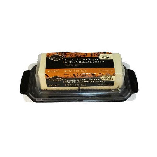 sharp white cheddar. kroger private selection sliced extra sharp white cheddar cheese