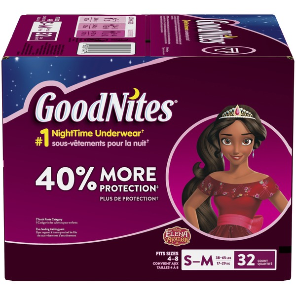 25022d7a0f GoodNites Bedtime Bedwetting Underwear for Girls (32 ea) from Vons ...