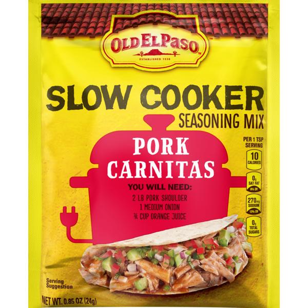Old El Paso Slow Cooker Seasoning – Pork Carnitas (0 85 oz