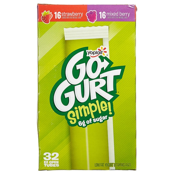 Yoplait Go-Gurt Simple Portable Yogurt Variet Strawberry/Mixed Berry (2.25 oz) from Costco - Instacart