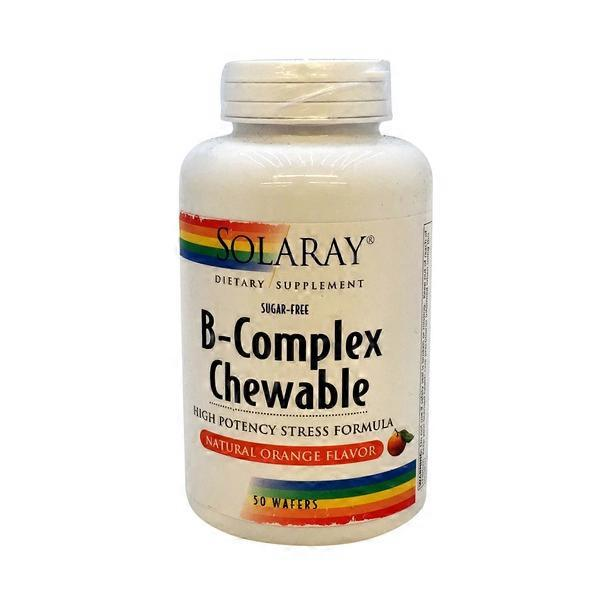 Solaray B-complex Chewable Dietary Supplement, Orange (50 ct