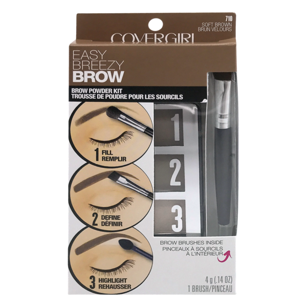 c342615ff6e CoverGirl Easy Breezy Brow Powder Kit 710 Soft Brown (0.14 oz) from ...