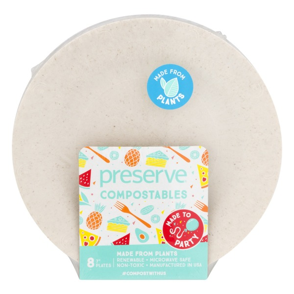 Preserve Compostables Small Plates Natural 8 CT  sc 1 st  Instacart & Preserve Compostables Small Plates Natural 8 CT from Giant Food ...