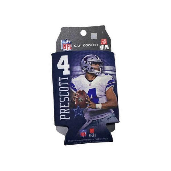 various colors 54cc1 dbb02 Wincraft Dallas Cowboys  4 Dak Prescott 2-Sided Neoprene 12 Ounce Can  Cooler Koozie