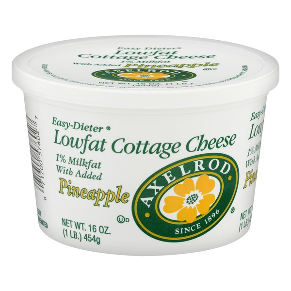 Axelrod Easy Dieter Lowfat Cottage Cheese Pineapple