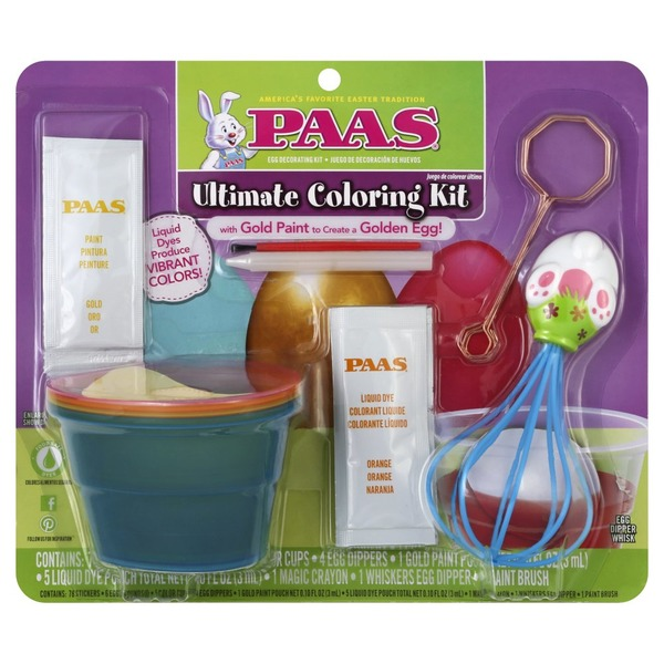 Paas Egg Decorating Kit, Ultimate Coloring (1 each) from ...