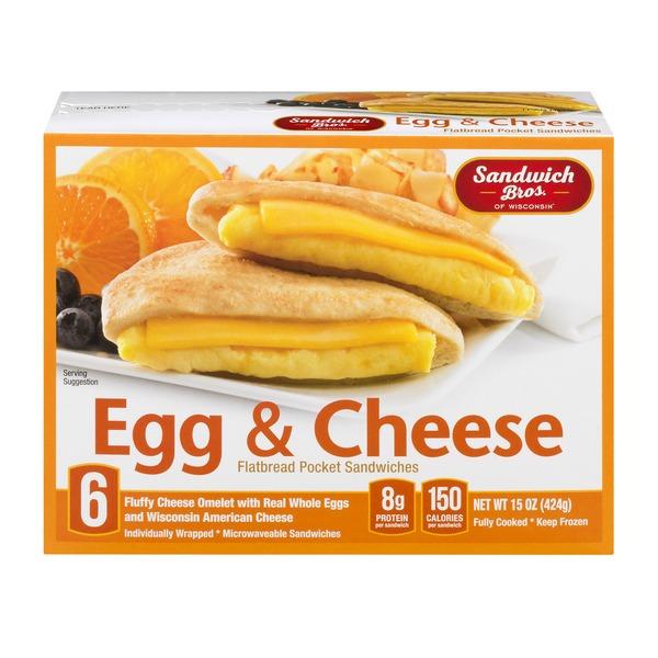 Sandwich Bros Of Wisconsin Flatbread Pocket Sandwiches Egg Cheese