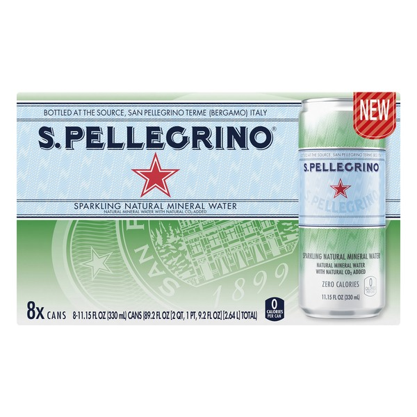S Pellegrino S  PELLEGRINO Sparkling Natural Mineral Water 8