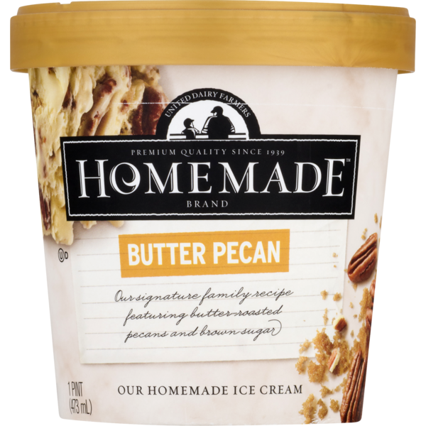 United Dairy Farmers Homemade Ice Cream Butter Pecan 1 Pt From