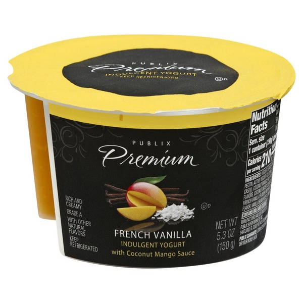 Publix Yogurt, Indulgent, French Vanilla (5 3 oz) from
