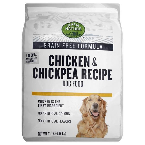 Open Nature Dog Food Grain Free Formula Chicken Chickpea Recipe