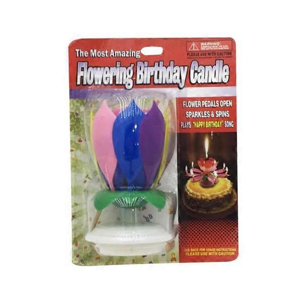 R Ideas Flowering Birthday Candle