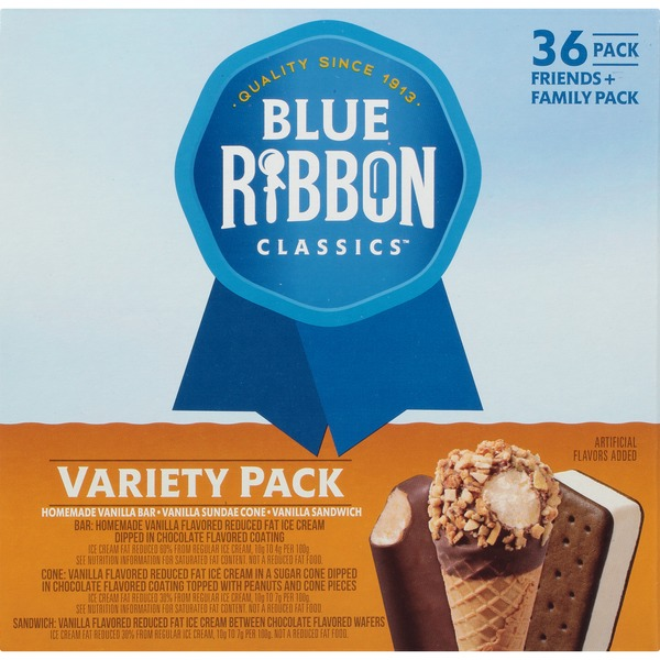 Blue Ribbon Classics Ice Cream Variety Packs 98 Fl Oz