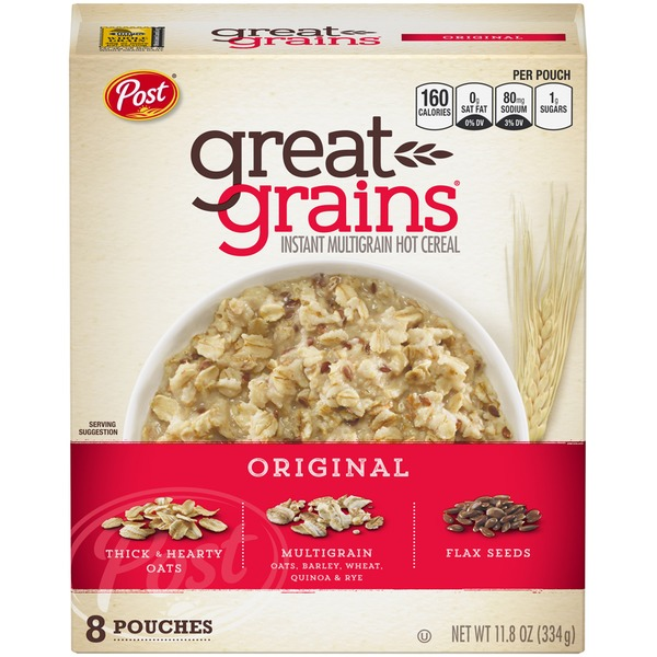 Post Great Grains Instant Multigrain Hot Cereal From Food