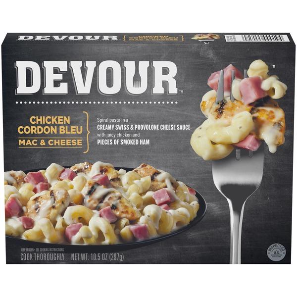 Devour Chicken Cordon Bleu Mac Cheese Frozen Entree From Food Lion