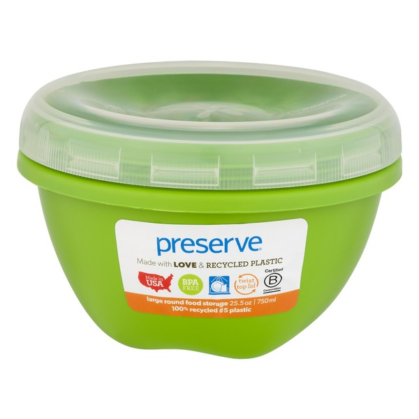 Preserve Food Storage Large Round Container Apple Green