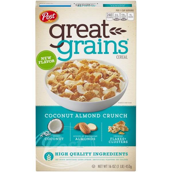 Post Great Grains Coconut Almond Crunch Cereal