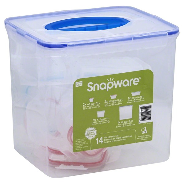 Snapware Container Set Plastic 14 Piece Value Pack 14 ea from