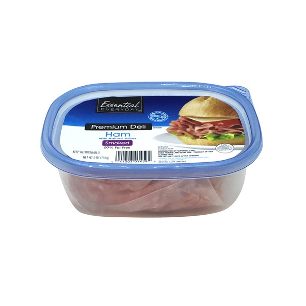 4837dedb9253 Essential Everyday Premium Deli Smoked Ham (9 oz) from Shop N Save ...