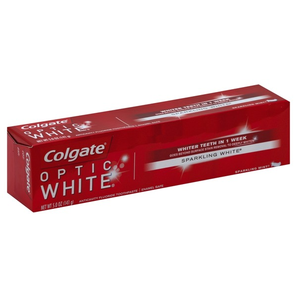 Colgate Optic White Sparkling White Toothpaste Sparkling Mint From