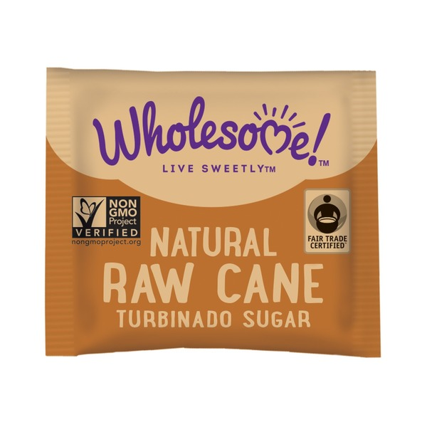 Wholesome Sweeteners Natural Raw Cane Turbinado Sugar Packets per