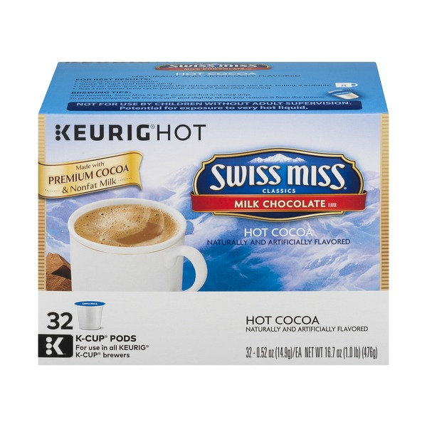 Swiss Miss Hot Cocoa Keurig Hot K Cup Pods Milk Chocolate