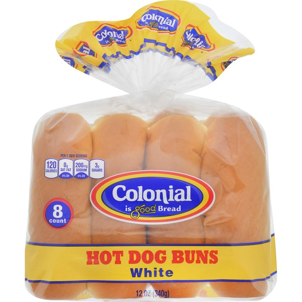 Colonial Hot Dog Buns 12 Oz Instacart