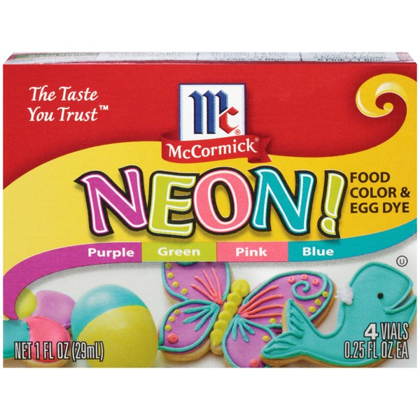McCormick Neon Assorted Food Color & Egg Dye from Food Lion - Instacart