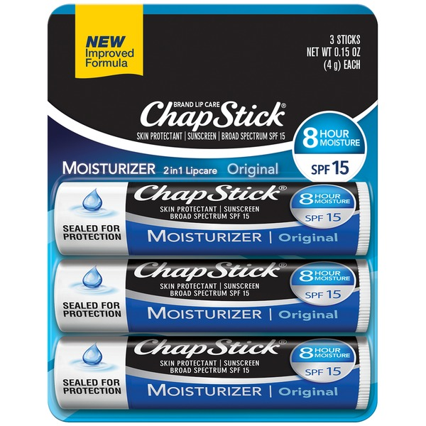 ChapStick Lip Moisturizer SPF 12, 0.15 oz 3 ea Masqueology Mask, Hydrate and Repair, Package of 3 Masks