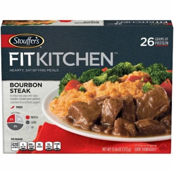 Stouffer's Fit Kitchen Bourbon Steak With Chipotle Mashed