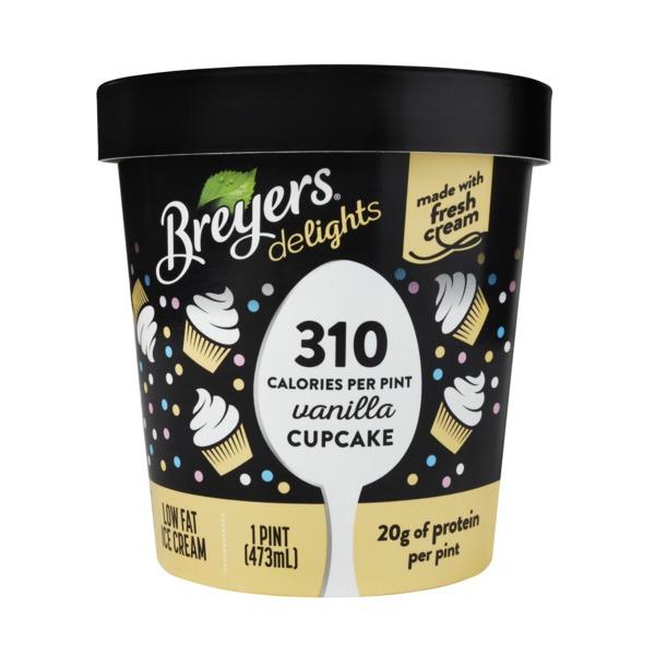 Breyers Reduced Fat Ice Cream Vanilla Cupcake