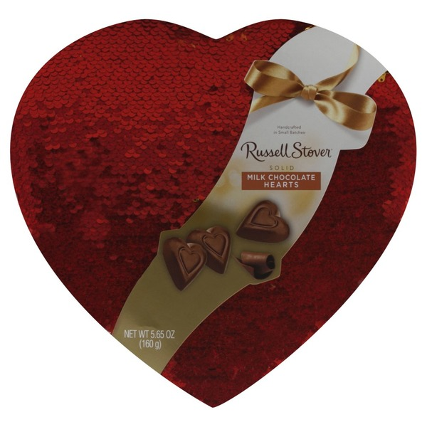 Russell Stover Milk Chocolate Solid Hearts 565 Oz From Jewel