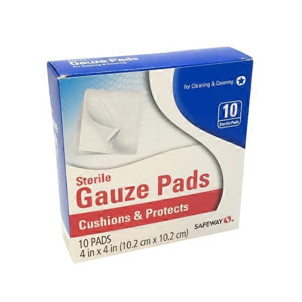 "Signature Care Sterile Gauze Pads, 4"" x 4"" from Jewel-Osco ..."