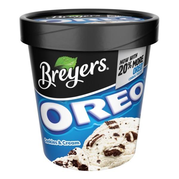 Breyers Frozen Dairy Dessert Oreo Cookies And Cream