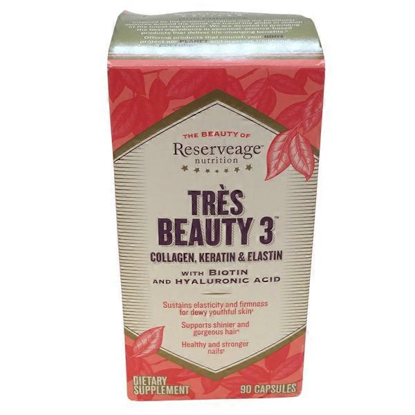 Reserveage Tres Beauty 3 Collagen, Keratin & Elastin (90 ct